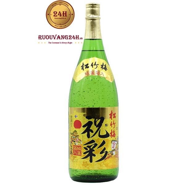 Rượu Sake Vảy Vàng Hakushika 1.8Lít
