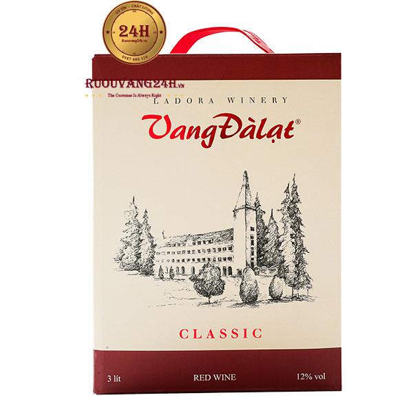 Rượu Vang Bịch Đà Lạt Chateau Dalat Extra Red Wine