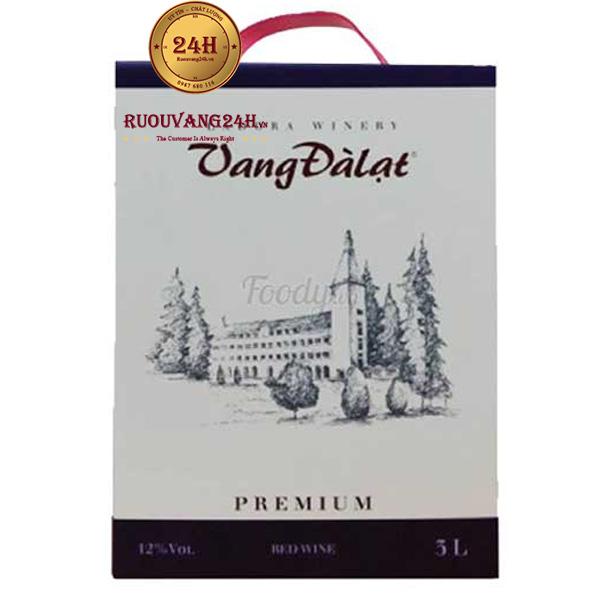 Rượu Vang Bịch Đà Lạt Premium Red Wine 3 Lít
