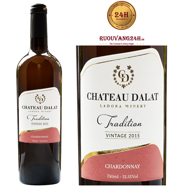 Rượu Vang Chateau Dalat Tradition Chardonnay