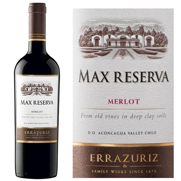 Rượu Vang Errazuriz Max Reserva Merlot