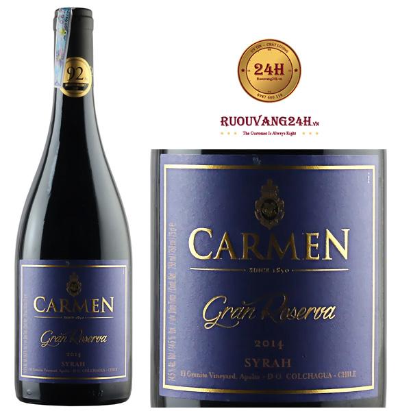 Rượu Vang Carmen Gran Reserva Syrah