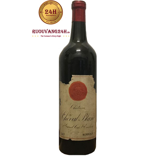 1947 Chateau Cheval Blanc – 304.375 USD(6.696.250.000 VND)