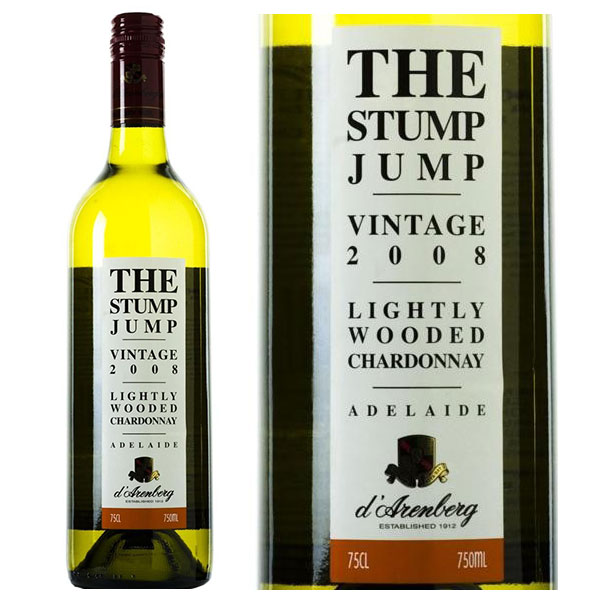 Rượu Vang D'Arenberg The Stump Jump Lightly Wooded Chardonnay