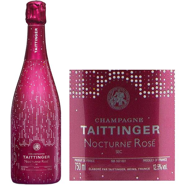 Rượu Champagne Taittinger Nocturne Rose City Lights