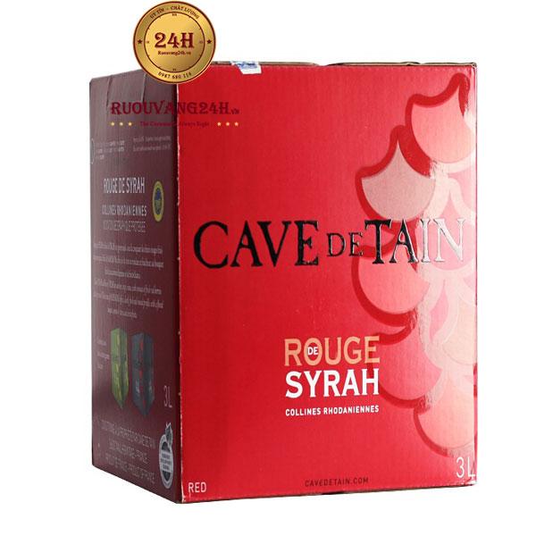 Rượu Vang Bịch Cave De Tain Rouge De Syrah