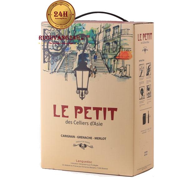 Rượu Vang Bịch Le Petit des Celliers Bib 3L