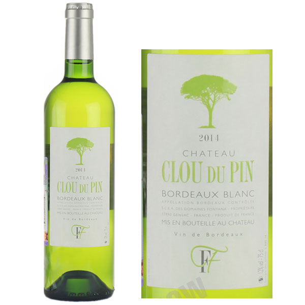 Rượu Vang Chateau Clou Du Pin Bordeaux Blanc