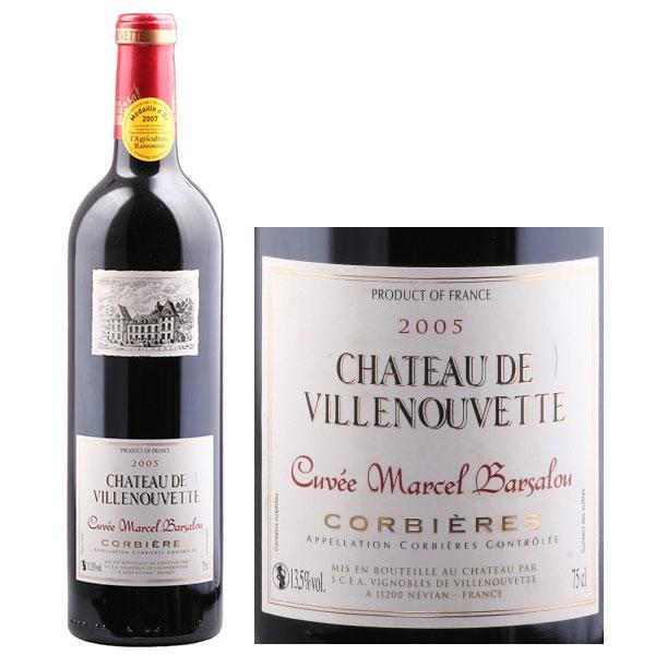 Rượu Vang Chateau De Villenouvette Cuvee Marcel Barsalou