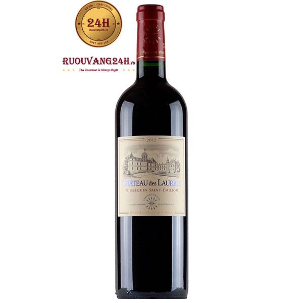 Rượu Vang Chateau Des Laurets Puisseguin Saint Emilion