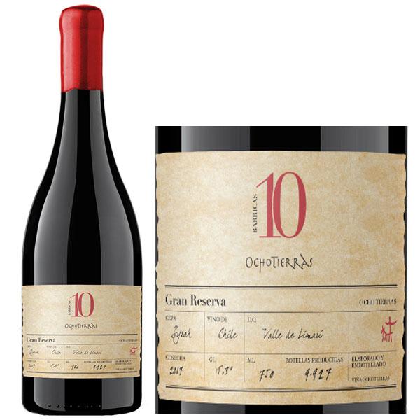 Rượu Vang Chile 10 Ocho Tierras Syrah