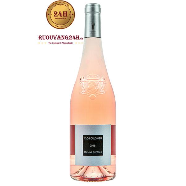 Rượu Vang Clos Culombu Etienne Suzzoni Tribbiera Rose