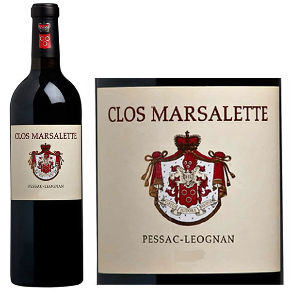 Rượu Vang Clos Marsalette Pessac Leognan