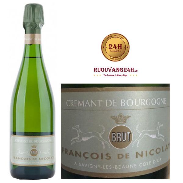 Rượu Vang Francois De Nicolay Cremant De Bourgogne