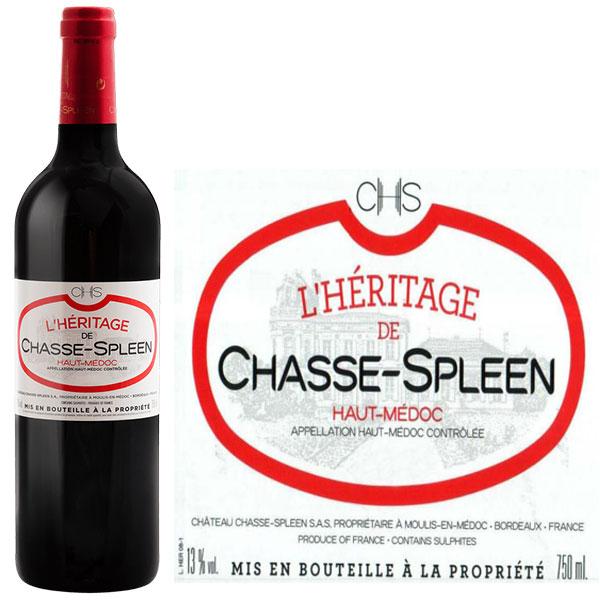 Rượu Vang L'Heritage De Chasse Spleen