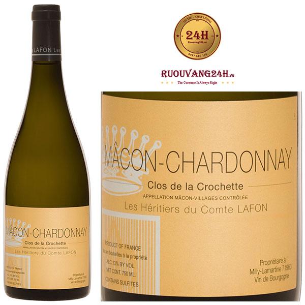 Rượu Vang Macon Chardonnay Clos De La Crochette