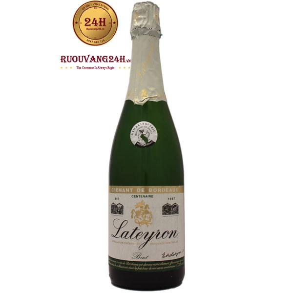 Rượu Vang Nổ Lateyron Cremant De Bordeaux Centenaire