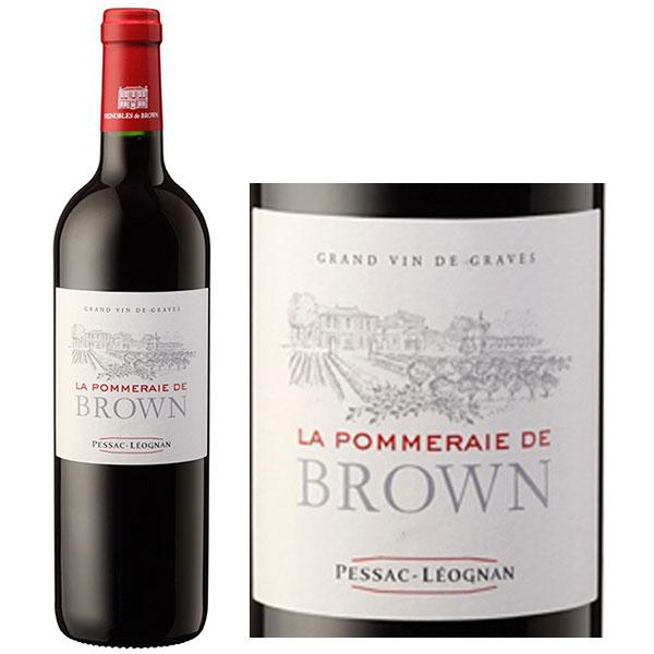 Rượu Vang Pháp La Pommeraie De Brown Red