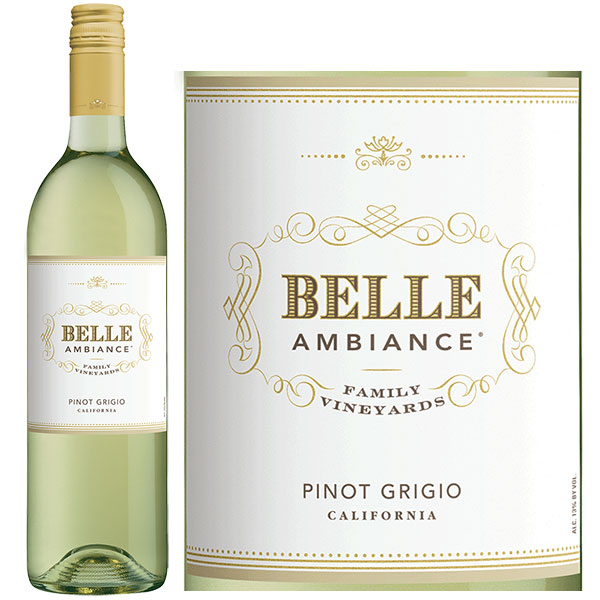 Rượu Vang Belle Ambiance Pinot Grigio California