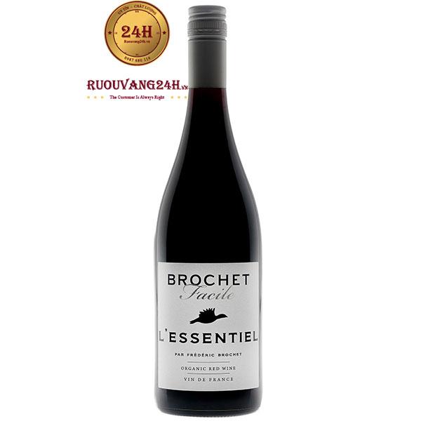 Rượu Vang Brochet Facile L'Essentiel Organic Red