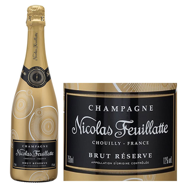 Rượu Vang Nicolas Feuillatte Brut Réserve Gold Label