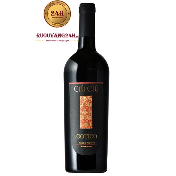 Rượu Vang Ý Ciù Ciù Gotico