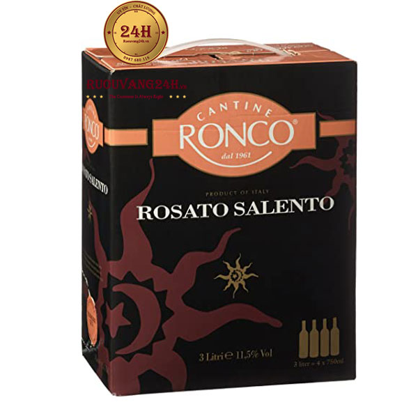 Rượu Vang Bịch Ronco Rosato Salento