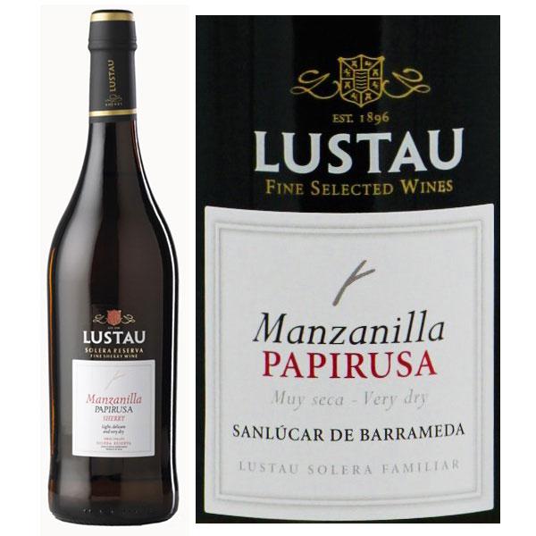 Rượu Vang Lustau Manzanilla Papirusa Sherry