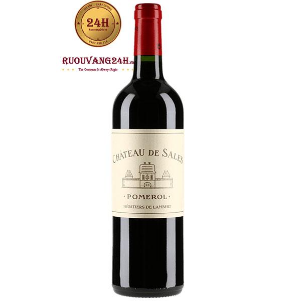 Rượu Vang Pháp Chateau De Sales Pomerol
