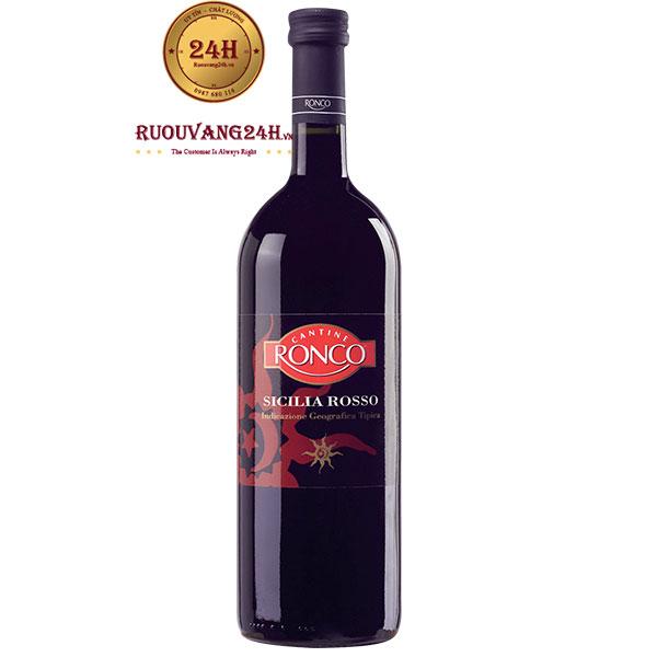 Rượu Vang Ronco Sicilia Rosso