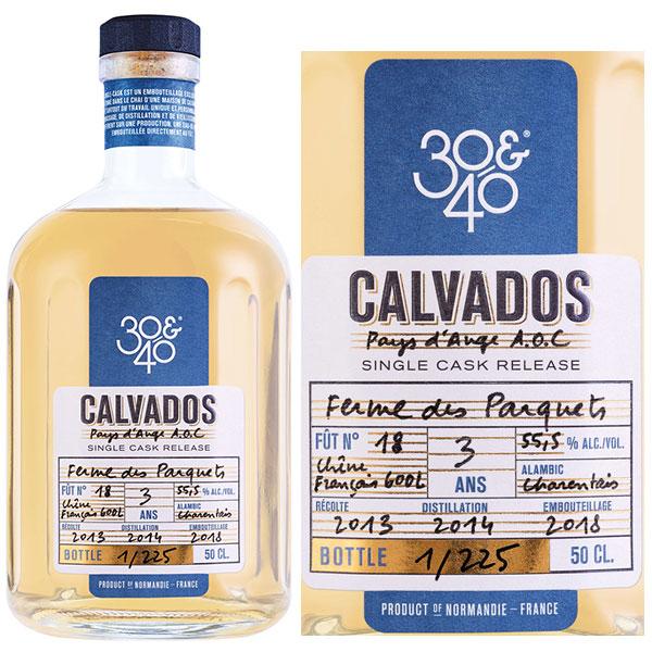 Rượu 30&40 Ferme Des Parquets Single Cask Calvados