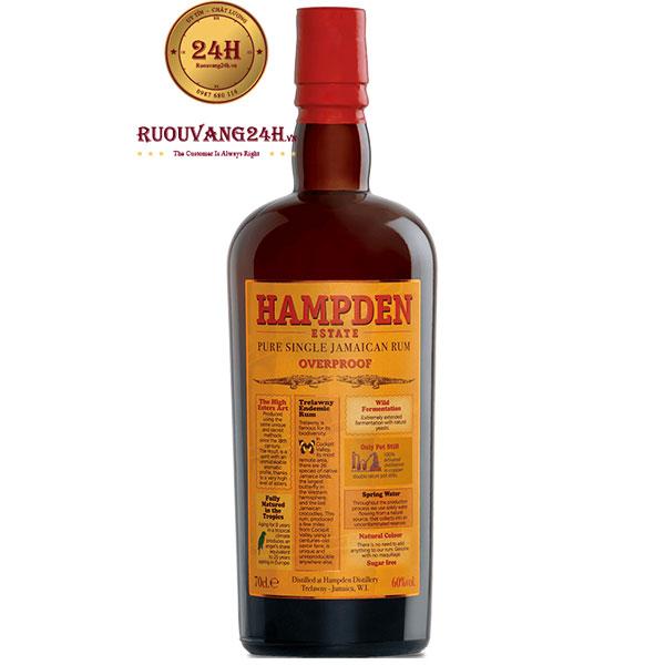 Rượu Hampden Pure Single Jamaican Rum Overproof