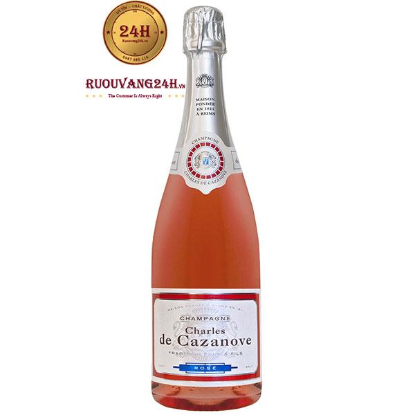 Rượu Sâm Banh Charles De Cazanove Rose