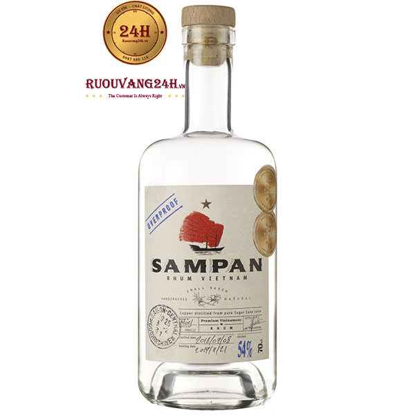 Rượu Sampan Rhum White 54%