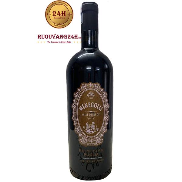 Rượu Vang MenegolliPrimitivo Puglia