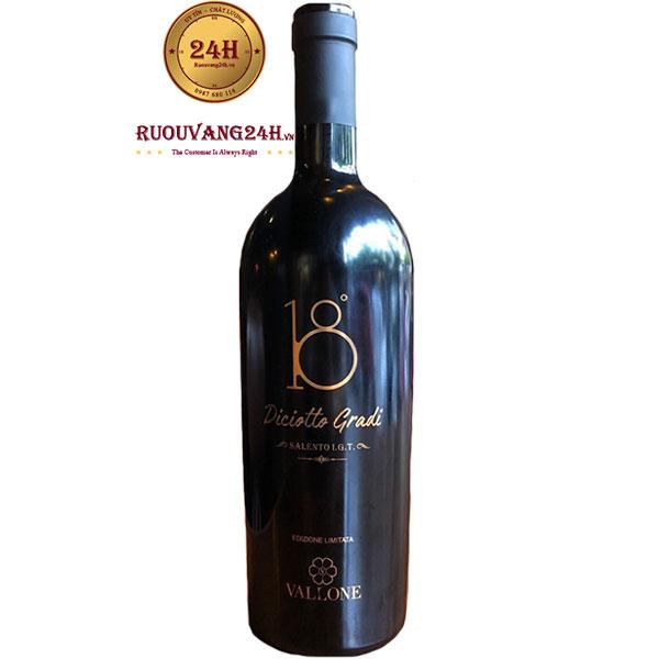 Rượu Vang Ý Diciotto Gradi 18 Độ