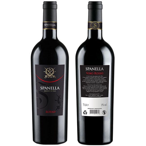 Rượu Vang Ý Spanella Rosso