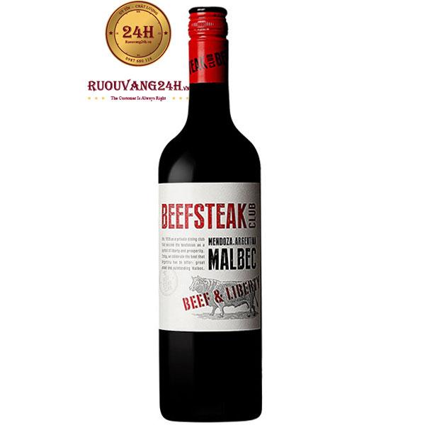 Rượu Vang Beefsteak Club Malbec Beef & Liberty