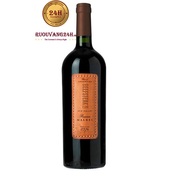 Rượu Vang Beefsteak Club Uco Valley Reserve Malbec