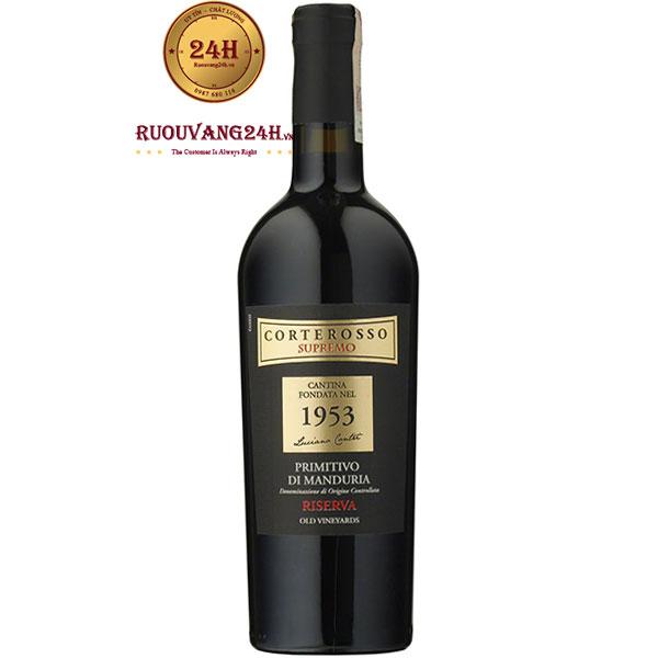 Rượu Vang Corterosso Supremo 1953 Primitivo Di Manduria Riserva