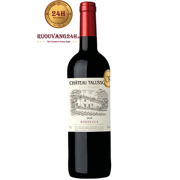 Rượu Vang Chateau Talusson Bordeaux