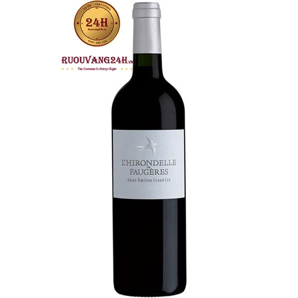 Rượu Vang L'Hirondelle De Faugeres