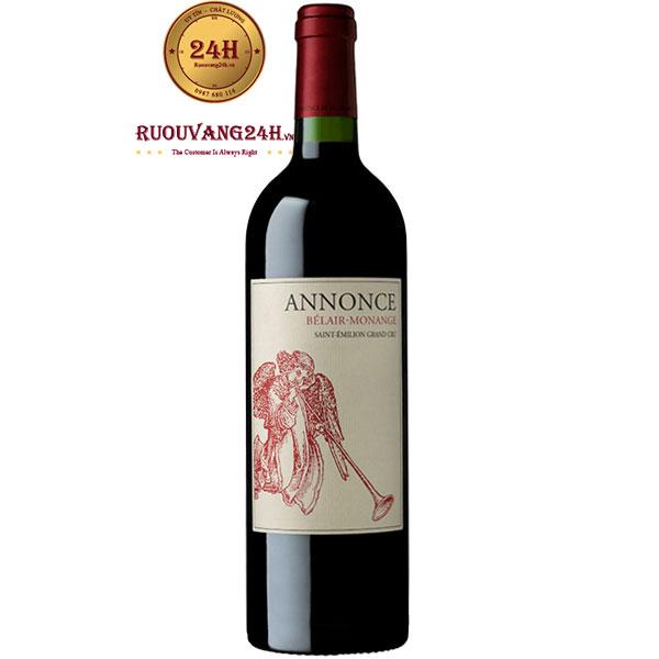Rượu Vang Pháp Annonce Belair Monange