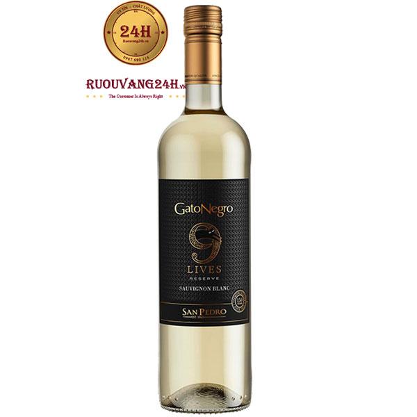 Rượu Vang Gato Negro 9 Lives Reserve Sauvignon Blanc