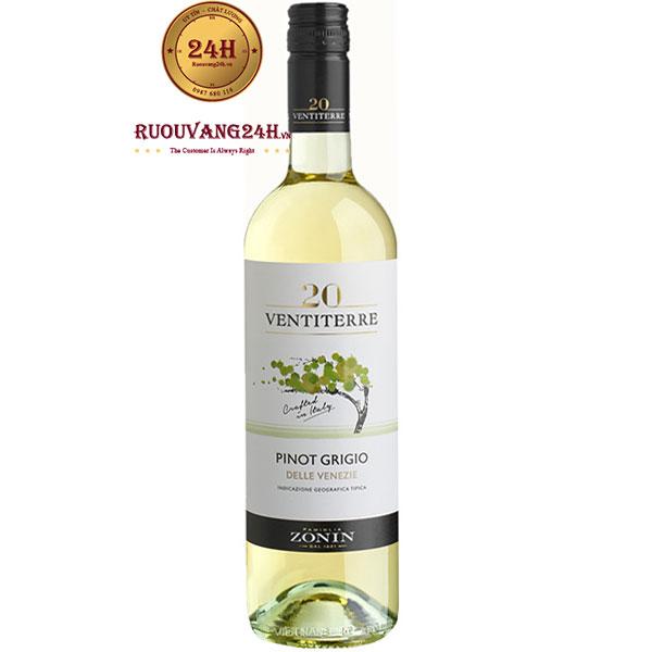 Rượu Vang Zonin 20 Ventiterre Pinot Grigio