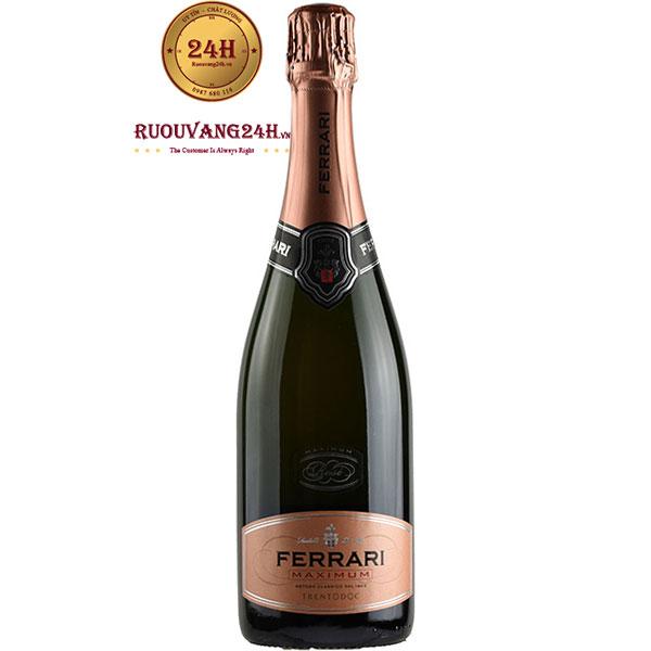 Rượu Sparkling Ferrari Maximum Rose Trentodoc