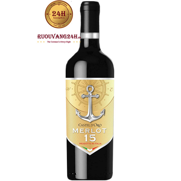 Rượu Vang Castel D'oro Merlot 15 Độ