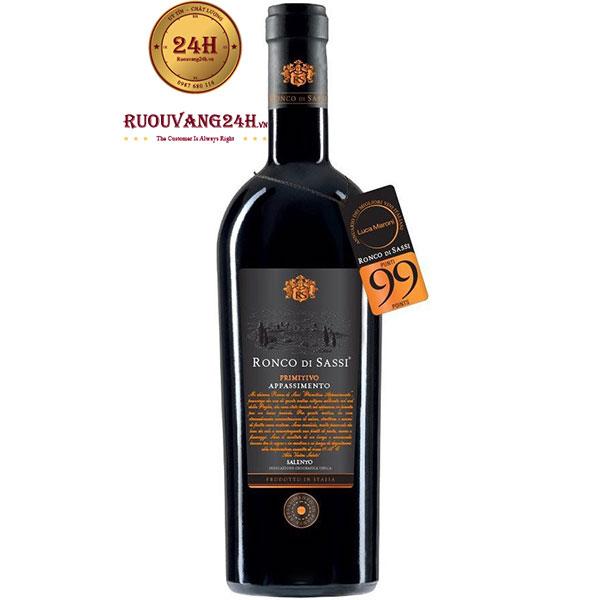 Rượu Vang Ronco Di Sassi Primitivo Appassimento 99 Điểm