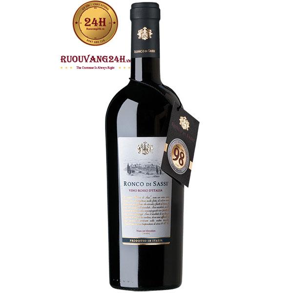 Rượu Vang Ronco Di Sassi Vino Rosso D'italia 98 Điểm